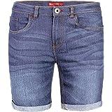 BlauerHafen Jeans da uomo, elasticizzati, super flessibili, slim fit, estivi, in denim, con mezza gamba