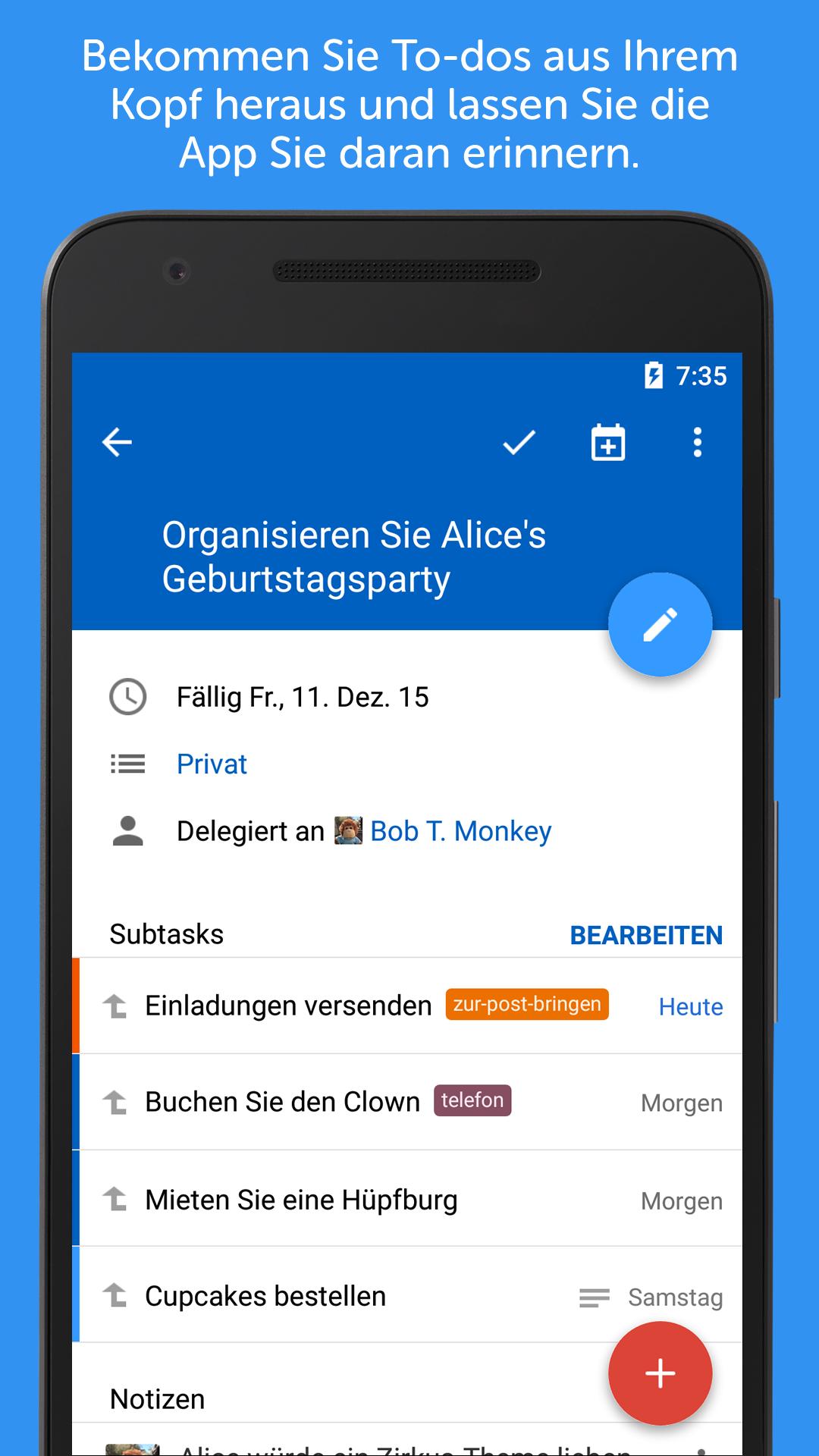 Remember The Milk: Amazon.de: Apps für Android