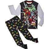 Marvel Avengers Pijama Niño, Pijamas Niños de Los Vengadores Superheroes Capitan America, Hulk, Iron Man y Thor, Conjunto de
