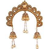 I Jewels Gold Plated Ethnic Jhumki Hair Accessory Juda Pin for Women (SM33FL)