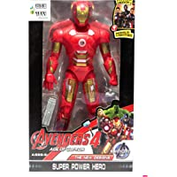 WOW Toys - Delivering Joys of Life|| Big and Realistic Action Figure|| Iron Man|| LED Light || Red|| 19 cm