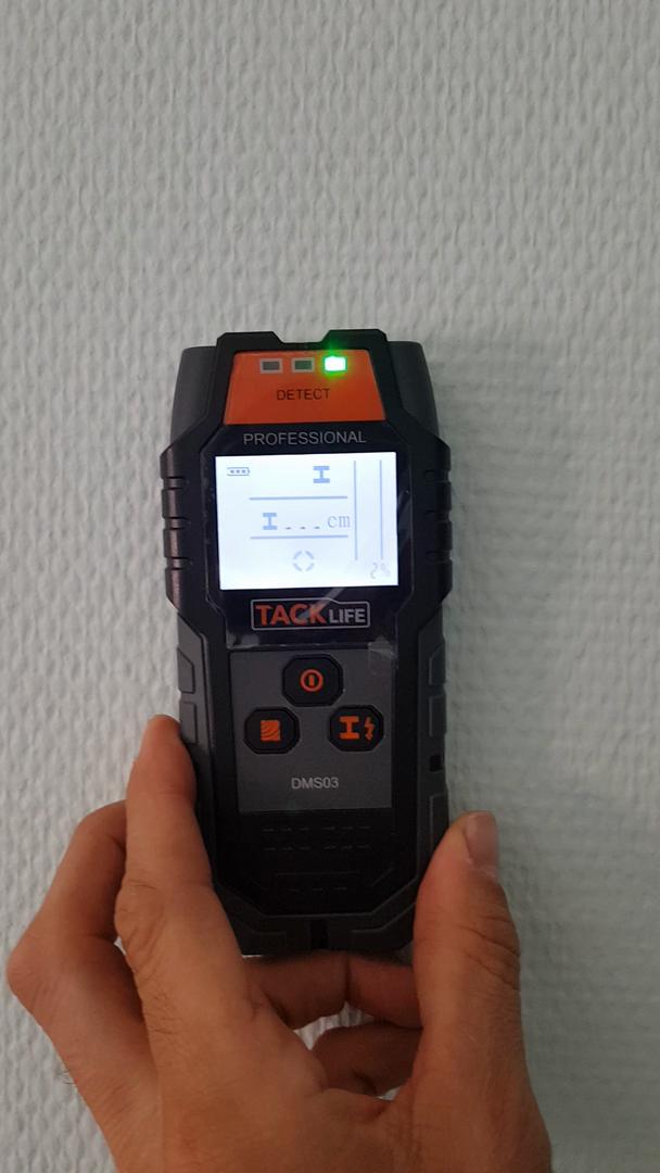 Detector de Pared, TACKLIFE-DMS05-Detectores de Metal, Madera y AC Cable, Probador de Humedad, Escáner de Pared Clásico y Multifuncional, Retroiluminación ...