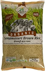 24 Mantra Organic Sonamasuri Brown Raw Rice, 5kg