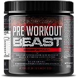 Pre Workout Beast (Bessen Smaak) – Een Hardcore pre-Workout Supplement met Creatine, Caffeine, Beta-Alanine en Glutamine (Reg