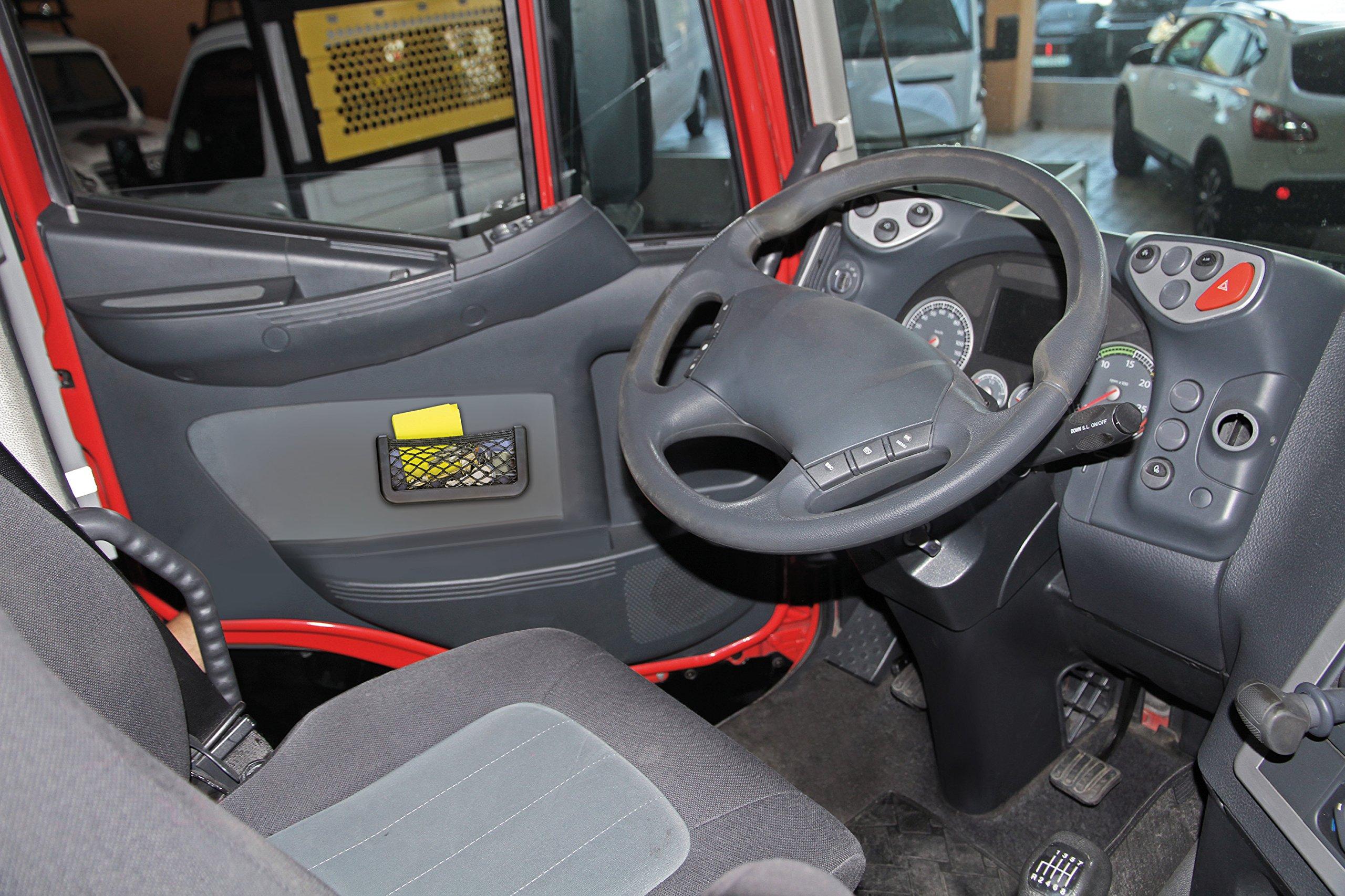sourcing map Nero plastica morbida porta cellulare tasca portaoggetti oggetti vari contenitore per Auto