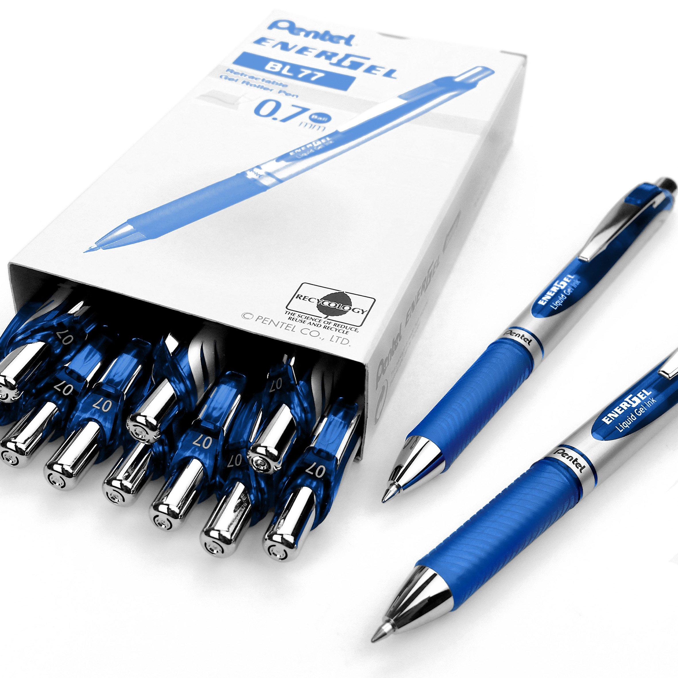 Pentel Energel Xm BL77���Penna Inchiostro Gel Liquido Retrattile���0,7�mm���54% Riciclato, colore:
