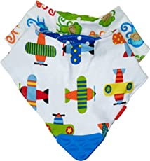 Nuby 2 Piece Bibs with Dribble Catcher and Teething Corner