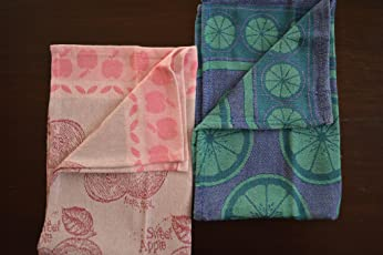 100%Cotton Set of 4(2designs) - Kitchen Towels