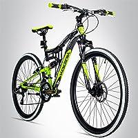 Bergsteiger Kodiak 29 Zoll Mountainbike, geeignet ab 170 cm, Scheibenbremse, Shimano 21 Gang-Schaltung, Vollfederung…