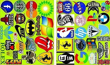 Elton 3M Vinyl Sticker Pack [40-Pcs] Plus Free Bonus Stickers Lovely 3M Vinyl Logo & Assorted Stickers for Laptop, Cars, Motorcycle, PS4. X Box One . Guitar Bicycle, Skateboard, Luggage - Waterproof Random Sticker Pack