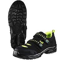 TMG® Chaussures de travail antidérapantes pour homme S1P   Fermeture Velcro Taille 38-47   Chaussures de sécurité pour…