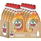 FAIRY Ultra Poter Lavastoviglie a mano, 4 l (10 x 400 ml), Pulito e Fresco, Aroma Arancio, Mega Pack