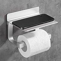Hoomtaook Porte Papier Toilette Derouleur Papier Toilette Adhésif Fort Porte-Papier Toilette, Auto-adhésif, Aluminium…