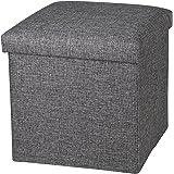 (رمادي كتاني) - مقعد مسند قدم مكعب مسند قدم من NISUNS OT01 قابل للطي، 12 × 30 سم × 30 سم (رمادي كتاني)