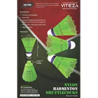 VITEZA Nylon Badminton Shuttlecock, Pack of 10 Units