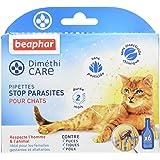 BEAPHAR – DIMÉTHICARE – Pipettes stop parasites pour chat – Contre puces, tiques et poux (adultes, œufs et larves) – Sans pes