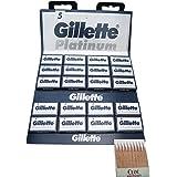 100 Cuchillas De Afeitar GiIIette Platinum Con 20 Cerilllas Hemostáticos