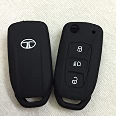 Sfk Silicone Flip Key Cover for Tata Safari Storme/Zest/Bolt/Tiago/Zica