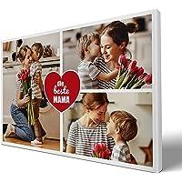 wandmotiv24 Fotocollage Beste Mama, 3 Fotos auf Leinwand, querformat 30x20cm (BxH), Leinwandbilder, Collage für…