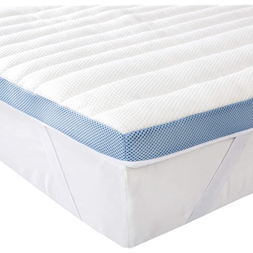 AmazonBasics 7-Zone-Air-Memory-Foam-Mattress-Topper - 80 x 190 cm