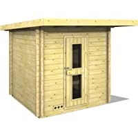 Infraworld Terra 5 391049 Outdoor Sauna Solid Wood North Spruce with Pent Roof