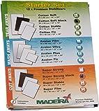 Madeira 9449 Starterset 12 Madeira Stickvliese-Testmuster, Anleitungsheft Vliesschule