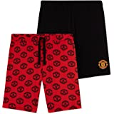 Manchester United F.C. Mens Shorts, 2 Pack Summer Lounge Shorts, Football Gifts