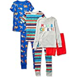 Spotted Zebra Snug-fit Cotton Pajamas Sleepwear Sets Niños, Pack de 6