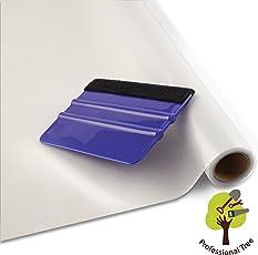 ProfessionalTree Fenster-Sichtschutz-Folie Milchglas-Folie 90x200 cm - Selbstklebend Matt - Privatsphäre-Schutz im Ganzen Haus - mit Rakel (1 Rolle)