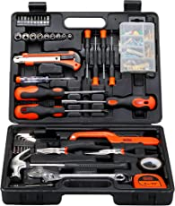 BLACK+DECKER BMT126C Hand Tool Kit (126-Pieces), Orange and Black