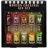 Modern Gourmet Foods, Miscele per Gin Cocktail Premium - Confezione Regalo, Set da 10 - 70 ml ciascuna. Aromi: Lime…