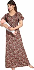 Soulemo Womens Feeding Nighty Maternity Dress. Micro Poly-Viscose Fabric with No Shrinkage & No Colour Fading Problem at All. 672