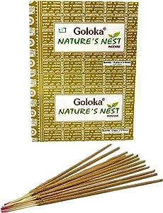 Räucherstäbchen 180g NATURES NEST von Goloka 12 x 15g Räucherwerk Duft Nature