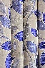 Luxury Homes Premium Jacquard Candy Leaf Heavy Blackout Eyelet Curtains Set of 2