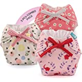 Bumberry Smart Nappy New Born Baby Cloth Diaper Combo with Size Adjustable Band and Wet Free Inserts | Reusable & Washable Co