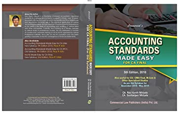 Accounting Standards Made Easy For CA Final 5th Edition,2018