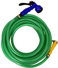 """Dripit™ Braided Garden Hose Pipe (1/2"""" Inch x 20 Meters) with 7-Pattern Rotating Nozzle Spray Gun, with Settings for a Wide Range of uses from Watering Your Plants to Cleaning Your Pets or Car Wash"""