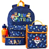 Paw Patrol Backpack 4 Piece Set | Rescue Pups School Bag, Lunch Box, Water Bottle & Pencil Case | Chase Blue Bag…