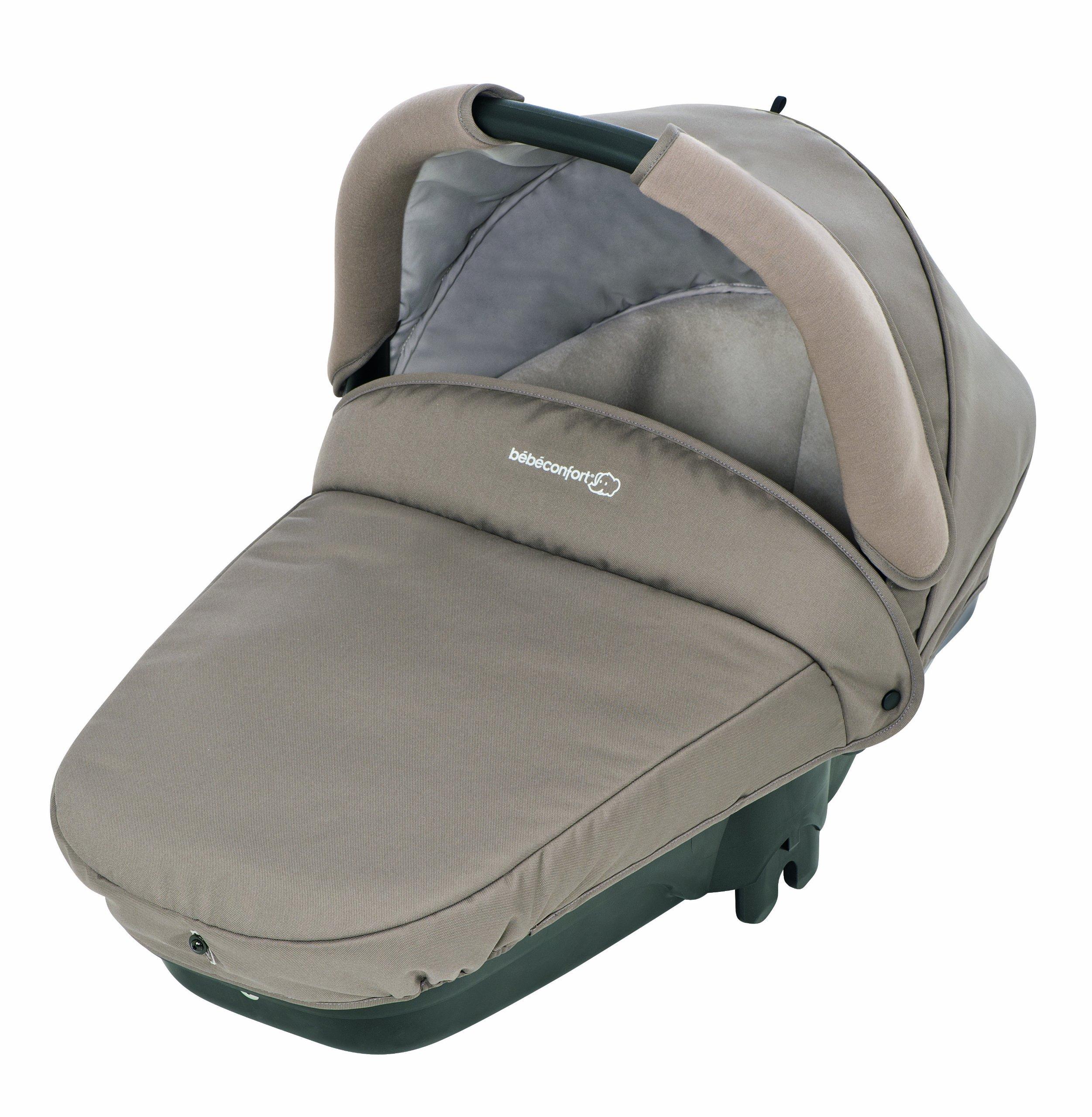 B�b� Confort - Streety Plus Navicella per Passeggino, Omologata Auto (0-10kg), Walnut Brown