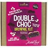 Bakedin Double Chocolate Brownie Kit All The Dry Ingredients Foil Baking Tin and Paper, 475 Gram