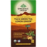 Organic India Tulsi Green - 25 x 1.8g Tea Bags (Lemon Ginger)
