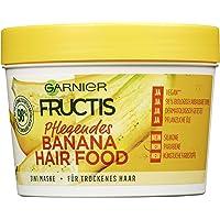 Garnier Haarmaske, Pflegendes Banana Hair Food, Hairfood feuchtigkeitsspendende 3in1 Maske, für trockenes Haar, pflegt…