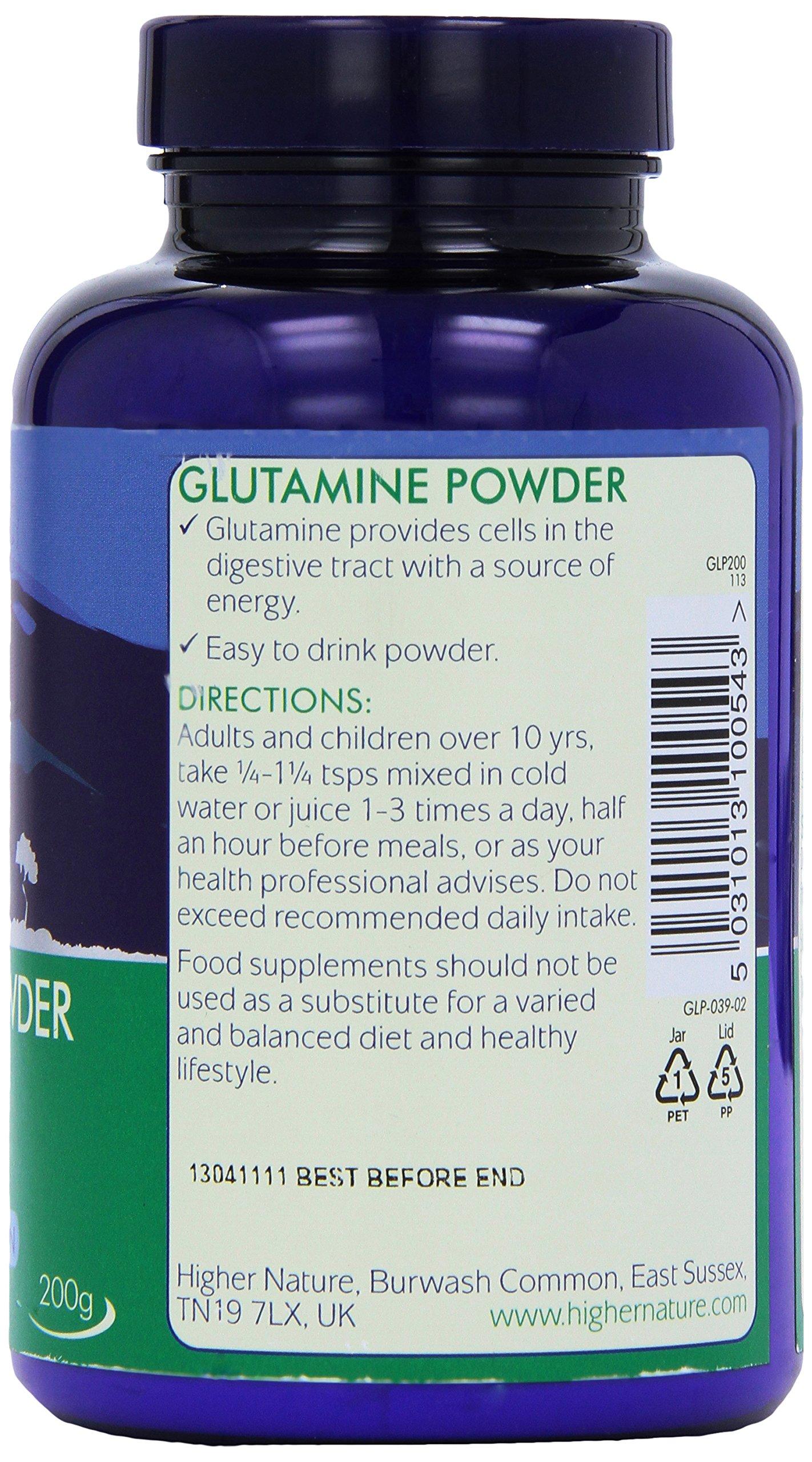 91zP%2BEl46XL - Higher Nature 200g Glutamine Powder