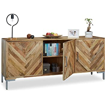 Native Home Sideboard Zickzack Muster Kommode Mango Holz Highboard