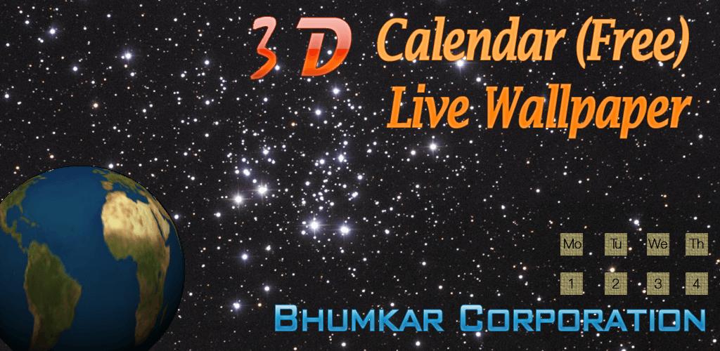Live Calendar Wallpaper : D calendar free live wallpaper amazon appstore per