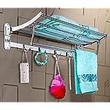 U-S-F BATH ACCESSORIES Premium Stainless Steel Folding Towel Rack/Towel Hanger/Towel Stand/Holder/Bathroom Accessories…