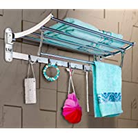 U-S-F BATH ACCESSORIES Premium Stainless Steel Folding Towel Rack/Towel Hanger/Towel Stand/Holder/Bathroom Accessories…