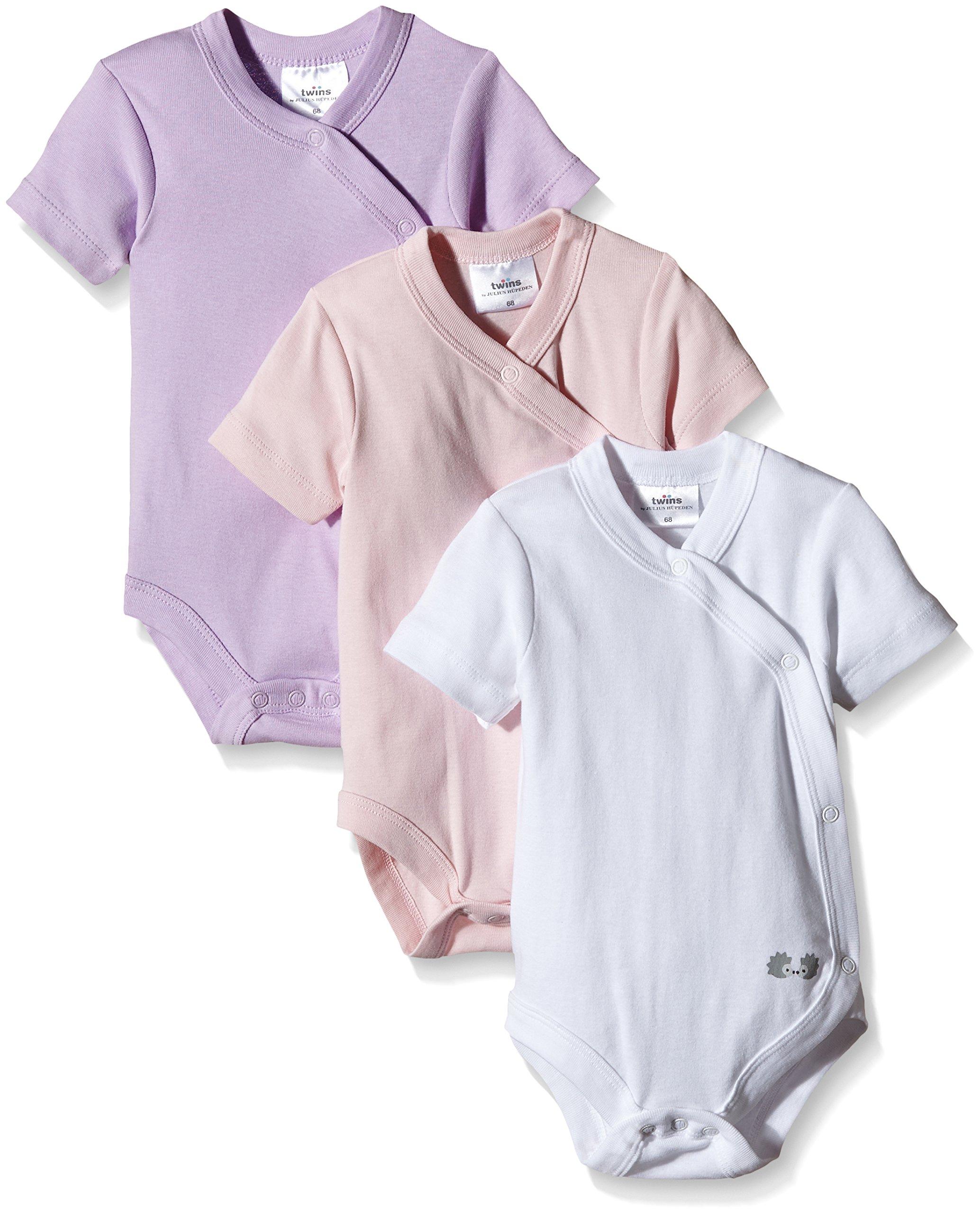 Twins Wickelbody, Kurzarm, uni – 3er-Pack – Body para bebés