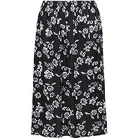 KK Fashion Lines Ladies/Womens Summer Floral Print Skirt, Light Weight Soft Viscose Fabric, Elasticated Waist, 27…