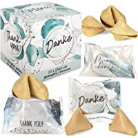 FOOD Crew 10 Glückskekse Danke - Einzeln Verpackt in Box - Sprüche Deutsch - Danke Geschenk zum bedanken - Made in…